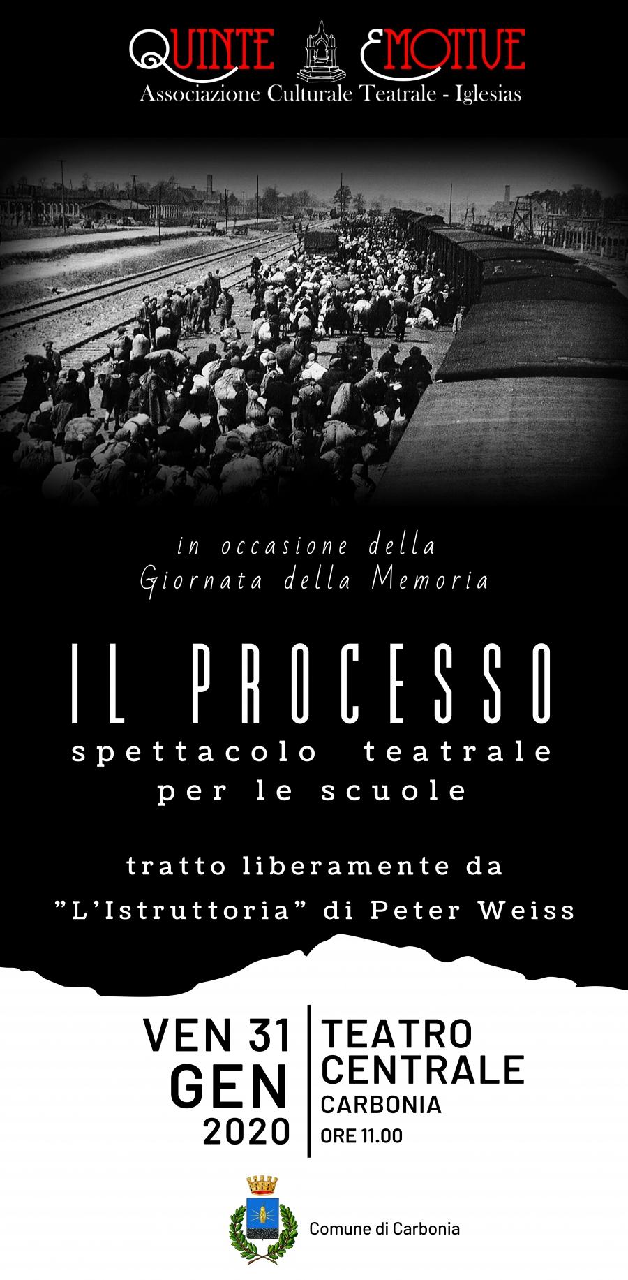 Comune Di Carbonia Venerdi 31 Gennaio Alle Ore 11 Al Teatro